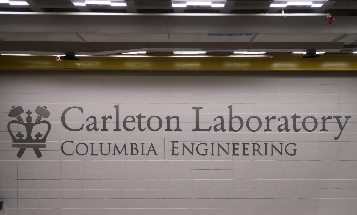 Carleton Lab Hi-Bay Signage